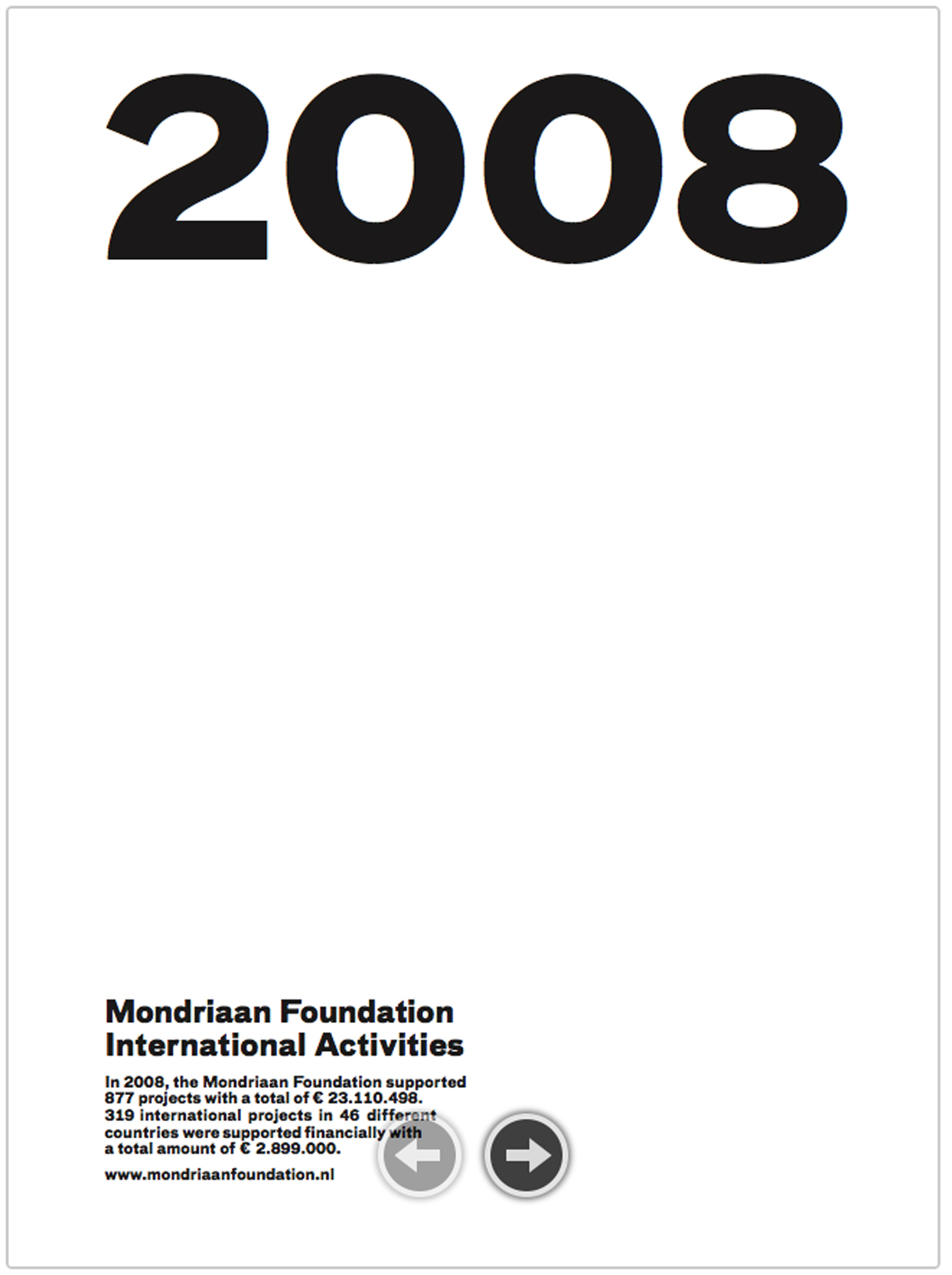 mondriaan foundation annual report 2008